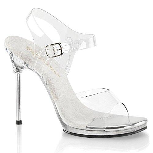 Favolosa Chic-08 Donna 4 1/2 Tacco, 1/4 Pf Cinturino Alla Caviglia Sandalo Clr / Clr
