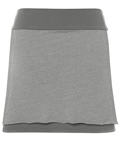 Soul Flower Women's Organic Double Layer Skirt MD Charcoal