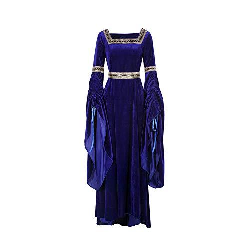 ROLECOS Medieval Irish Halloween Cosplay Costume Renaissance Lady Vintage Dress -