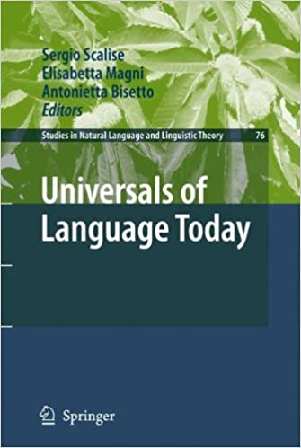 Book Universals of Language Today (Studies in Natural Language and Linguistic Theory)