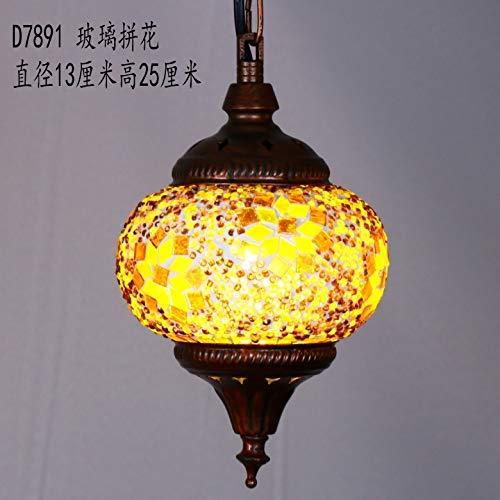 Die Hängelampe Pendelleuchten Kronleuchter Kronleuchter Farbe Mosaik Glas Exotische Bar Kreative Funktionen Lampen, D7891