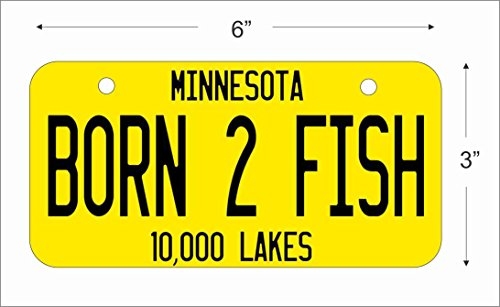 ATD Mini License Plate for Bicycles, Bikes, Wheelchairs, Golf Carts personalized with your design custom vanity Decorative plate can also be used as a door sign (Red, Yellow or Green) -  ATD Design LLC, miniLPcustom2