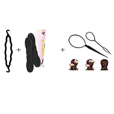 YOYOSTORE 1 Set Topsy Tool Hair Braid Twist Holder Clip Magic Roll Bun for Ponytail Topsytail Tail Styling Maker