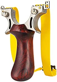 aiminGo Slingshot, Professional Hunting Shooting Slingshot with 1.5mm Extra Thick Heavy Duty Rubber Bands , Hi