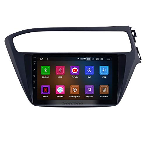 9 inch Android 9.0 Radio for Hyundai i20 2018-2019 RHD with GPS Navigation HD Touchscreen Bluetooth Carplay Audio System Support Rearview Camera TPMS(8-Core, 4G+32G (Best Chinese Double Din Head Unit 2019)