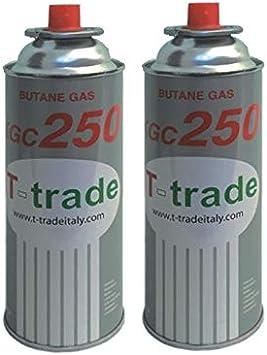 ALTIGASI 2 unidades – Cartucho de gas GLP 250 g Art. KCG250 ideal soldador soplete estufa o hornillo Bistro compatible Campingaz cp250 Brunner