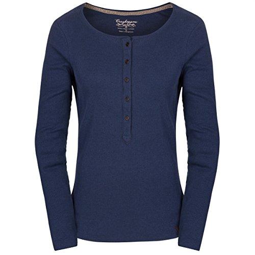Craghoppers Damen Blaubeere Stretch Lange Ärmel T-Shirt in Soft Navy Blau Größe 8