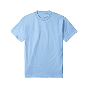 Hat and Beyond AAA Mens Basic Round Neck T Shirts Solid Short Sleeve Tee S-3XL