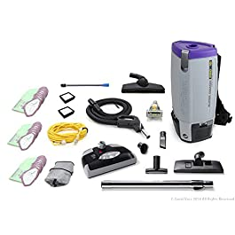 ProTeam Loaded Super Coach Pro 10 QT Commercial Backpack Vacuum Cleaner with Power Head