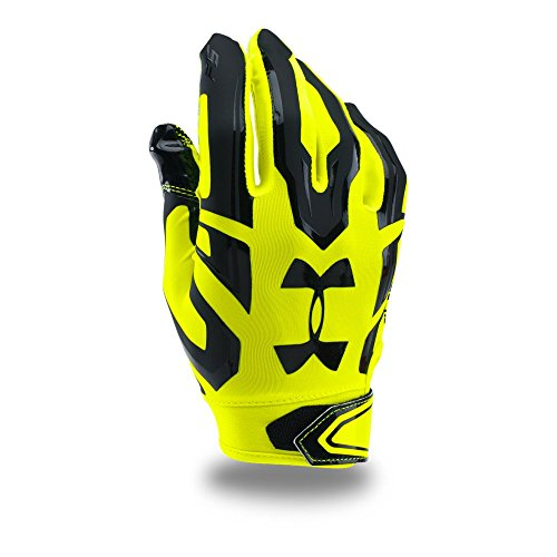Under Armour Men's F5 Football Gloves, High-Vis Yellow/Black, Large