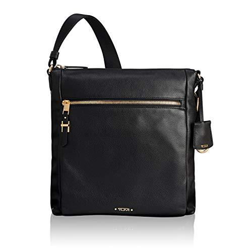 TUMI - Voyageur Canton Leather Crossbody Bag - Satchel Purse for Women - Black (Tumi Voyageur Capri Crossbody Black One Size)