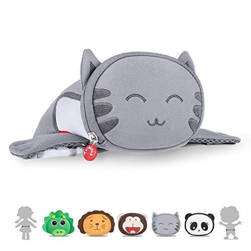 Kids Travel Waist Purse, Termichy Cute 3D Cartoon Cat Animal Fanny Pack Bag For Babies Girls Toddler Children Sport Running Camping Trip Makeup Masquerade - Kitty Belt