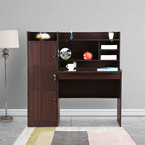 HomeTown Vento Engineered Wood Study Table in Walnut Colour Desks