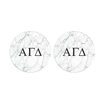 Alpha Gamma Delta Sorority Absorbent Sandstone Car Cup Coaster (Set of 2) Licensed Product