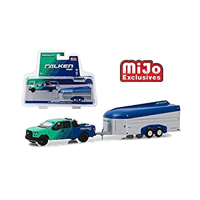New DIECAST Toys CAR Greenlight 1:64 MIJO Exclusives - Hitch & Tow - FALKEN Tires - 2020 Ford F-150 with AEROVAULT (Green/Blue, Blue/Silver) 51244: Toys & Games