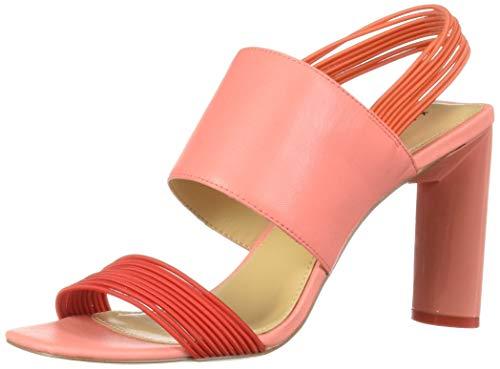 Katy Perry Women's The Corry-Mini Elast. Strch/SM.TMBLD Heeled Sandal Scarlet 8.5 M Medium US