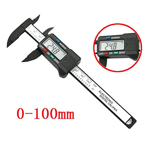 WONdere Electronic Digital Caliper Stainless Steel Body with Large LCD Screen | 100mm/4inch | Inch/Fractions/Millimeter Conversion