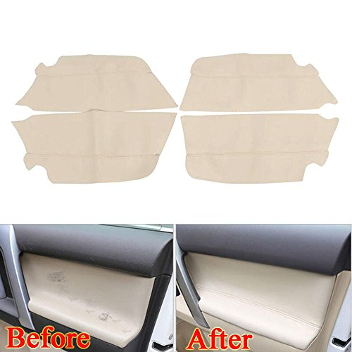 UltaPlay For Toyota Prado PU Leather Door Armrest Cover Trim Decor Panel Car-Covers Interior Anti-scratch Car Styling Accessories 2010-16 [Beige] by UltaPlay (Image #1)'