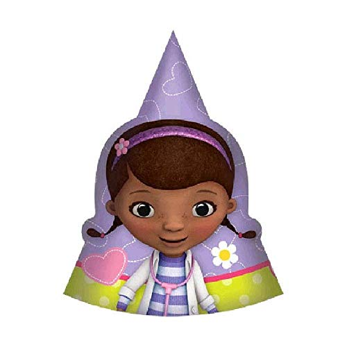 Bargain World Doc McStuffins Cone Hats (with Sticky -