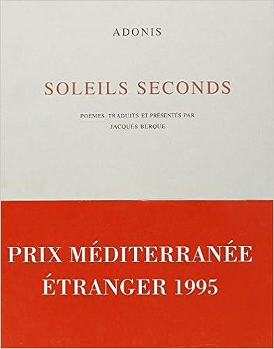 Livre gratuits en ligne Soleils seconds (poèmes) pdf, epub ebook