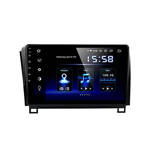 Dasaita 10 inch Large Screen Single Din Android 9.0 Car Stereo for Toyota Tundra 2007 to 2013 and Sequoia 2008 to 2018. Radio with GPS Navigation 4G Ram 64G ROM Built in DSP Dash Kit GPS Meomery Card (Toyota Sequoia Car Stereo)
