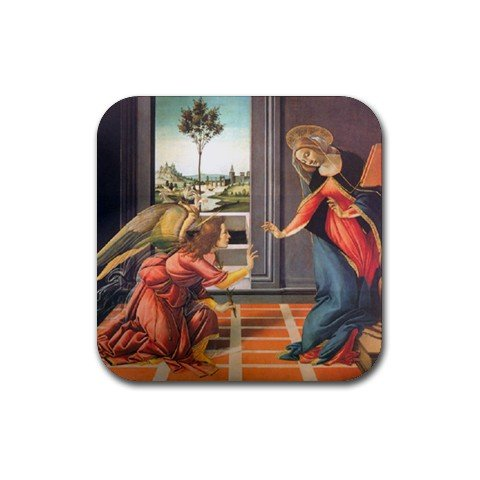 Annunciation By Sandro Botticelli Coaster (Set of - Botticelli Annunciation