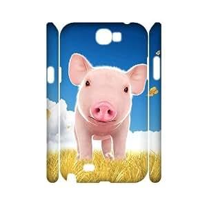 Cute Piggy Customized 3D Cover Case for Samsung Galaxy Note 2 N7100,custom phone case ygtg-794415