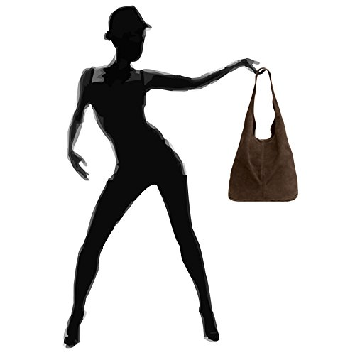 en Couleur Size pour véritable Taille daim Sac femme marron CASPAR foncé One à TL767 gqXwyZU