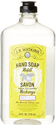 J.R. Watkins Liquid Hand Soap Refill, Lemon, 24 Fluid Ounce