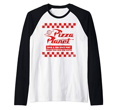 - Disney Pixar Toy Story Pizza Planet Checkered Logo Raglan Baseball Tee