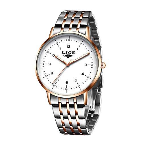 Men's Watch Fashion Wristwatch Steel Watch Dress Luxury Brand LIGE Waterproof Wristwatch Analog Quartz Business Sports…