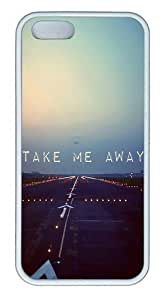 Take Me Away Travel TPU Silicone Rubber iPhone 5 and iPhone 5S Case Cover - White