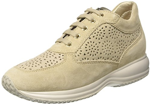 Beige Femme D beige Taupe lt Basses Sneakers Geox A Happy nYBZO6C