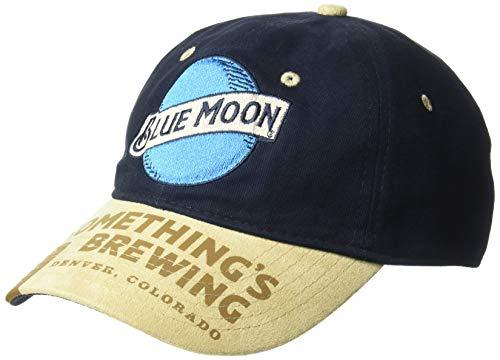 Miller Men's Classic Blue Moon Logo Adjustable Baseball Cap, One Size