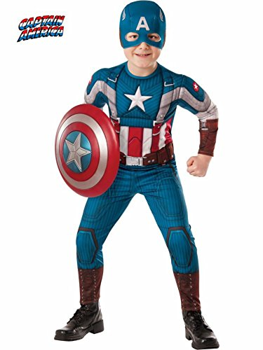 Retro Captain America Muscle Kids Costume