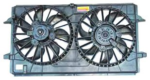 2008 Chevrolet Malibu Radiator - TYC 621790 Chevrolet/Pontiac Replacement Radiator/Condenser Cooling Fan Assembly