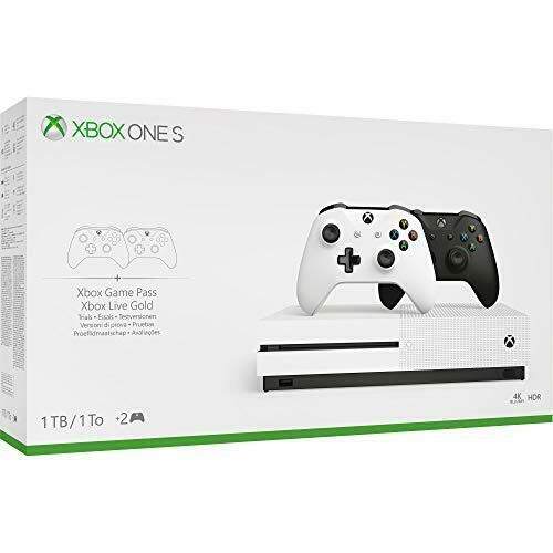 Xbox One S Two Controller Bundle (1TB) Includes Xbox One S, 2 Wireless Controllers, 1-Month Game Pass Trial, 14-day Xbox Live Gold Trial (Fifa Games For Xbox 360 Used)