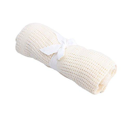 Mimgo Store Soft Baby Nursery Cotton Infant Blankets Boy Girl Swaddling Blankets Hot Bed Sleeping Bag (Beige)