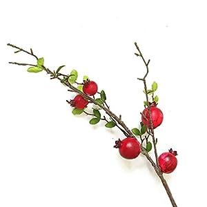 MacRoog Fruit Berries Plant Artificial Flower Branches Home Decorative Flower Plant Garden Decor 92