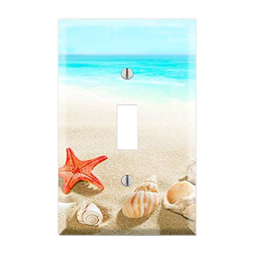 Beach Tropical Light Switch Cover, Beach Nautical Nursery Light Switch Plate, Blue Sea Light Switch, Beach Themed Room Summer trend, Hawaii, Bora Bora Light Switch Cover TF54