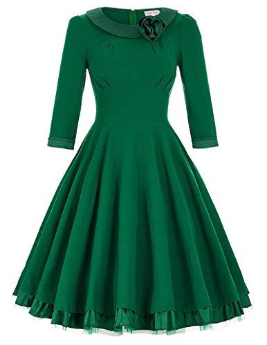 Womens Cocktail Vintage Dresses Sleeves