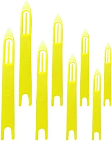 CLISPEED 8 Stuks Vissen Netting Naald Shuttle Plastic Visnet Weven Shuttles Vis Netto Reparatie Gereedschap Voor Visser Weven Naaien Breien Thuis Levert Geel