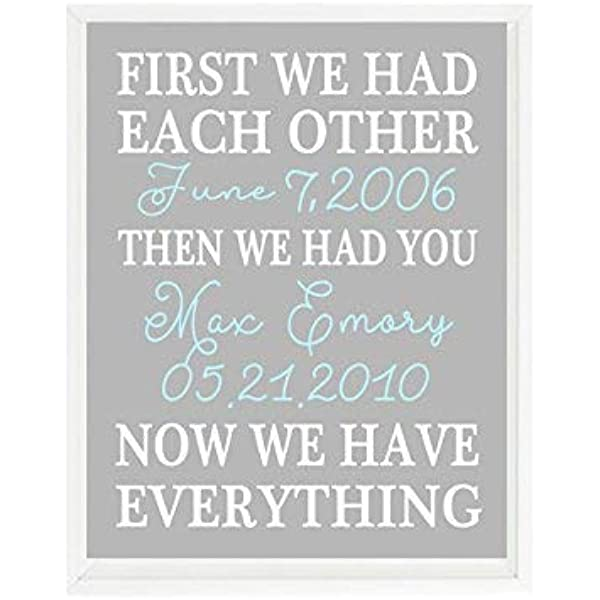 CHOOSE YOUR COLORS First We Had Each Other Twin Nursery Art Print Now We Have Everything Twins Nursery Decor Then We Had Both of You