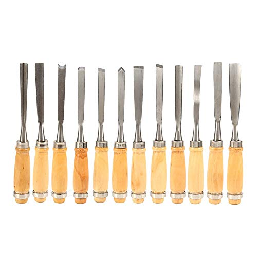 (Alikeke Professional 12 Piece Wood Carving Chisel Set 8