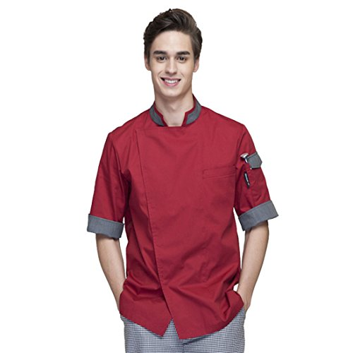 chef uniform red - 8