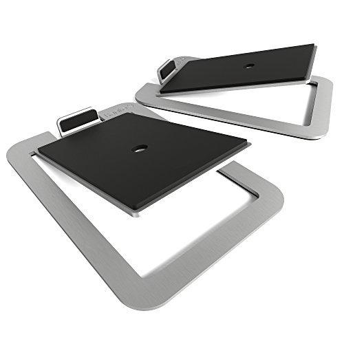 Kanto Kanto S4 Desktop Speaker Stands for Midsize Speakers, Aluminum