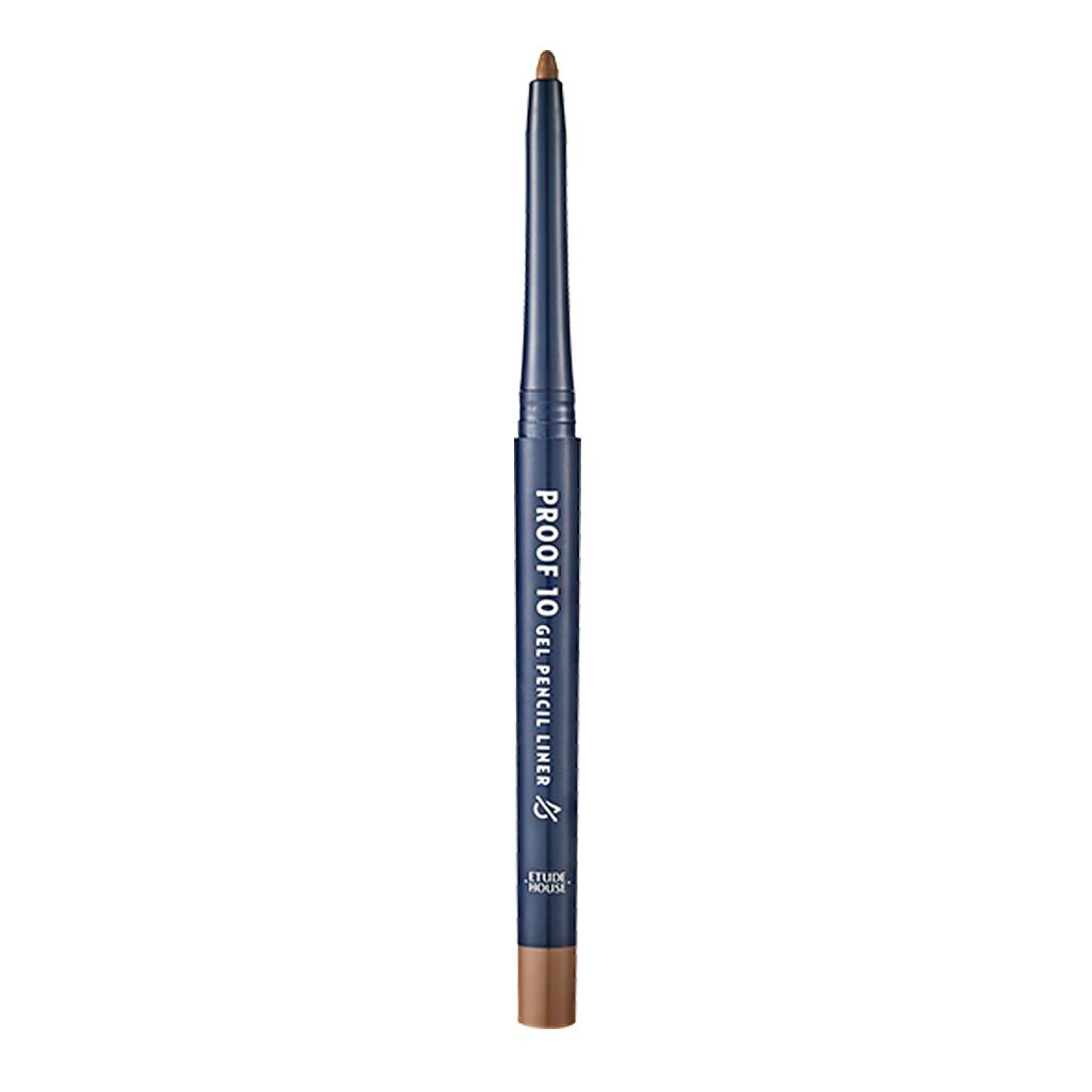 ETUDE HOUSE Proof 10 Gel Pencil Liner 0.3g (#3 Milk Chocolat) | Creamy Gel Texture Eyeliner with Wearable Shades to Create Precise Line Eye Makeup without Efforts