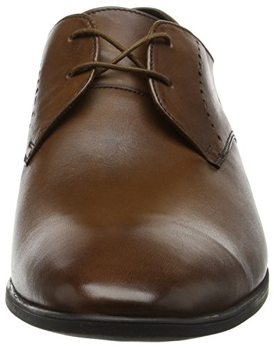 Derby Marrone Scarpe Stringate Bampton Leather Tan Uomo Lace Clarks nqIZ767