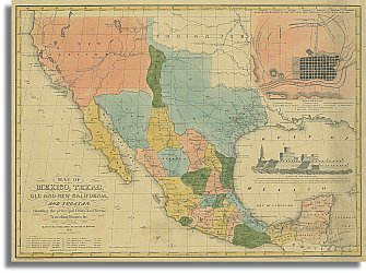 Map Of Texas Mexico.Amazon Com Mexico Texas Old And New California 1847 Office