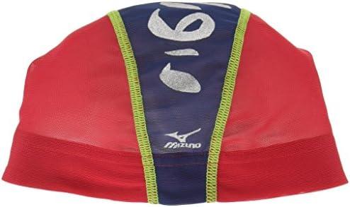 MIZUNO(ミズノ) スイムキャップ 水泳帽 競泳 メッシュキャップ N2JW7514 レッド L